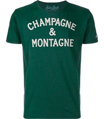 champagne & montagne green t-shirt