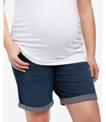 motherhood maternity cuffed denim shorts