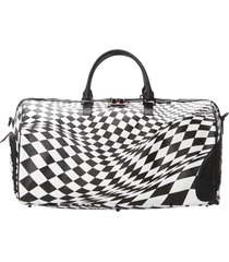 sprayground trippy check weekend bag 910d3652-ch