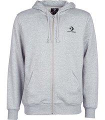 sweater converse converse star chevron emb fz hoodie