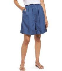 women's nordstrom fluid wide-leg shorts, size medium - blue
