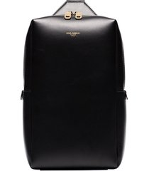 dolce & gabbana logo detail one-shoulder backpack - black