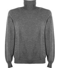 fay grey virgin wool sweater