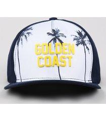 "boné infantil aba reta ""golden coast"" azul marinho"