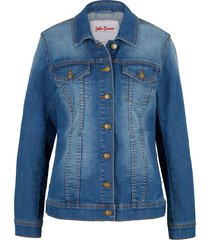 giacca di jeans elasticizzata basic (blu) - john baner jeanswear