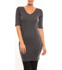 korte jurk vero moda regina 2/4 short dress 10099101 gris