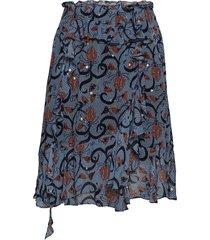 astonish knälång kjol blå munthe