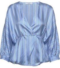 bjork shirt blouse lange mouwen blauw lovechild 1979