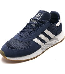 tenis lifestyle azul-blanco adidas originals marathon tech