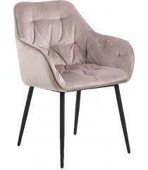 krzesło fotel tapicerowany wayn pudrowy róż