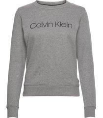 core logo ls sweatshirt sweat-shirt trui grijs calvin klein