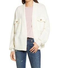 women's madewell cargo cardigan sweater, size x-small - ivory