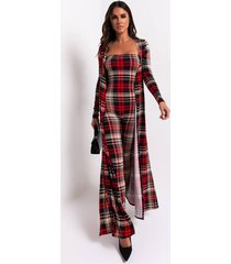 akira now or never plaid jumpsuit