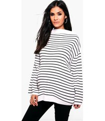 maternity striped soft rib sweater, multi