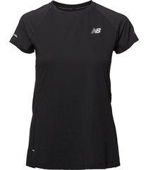 nb ice 2.0 ss t-shirts & tops short-sleeved orange new balance