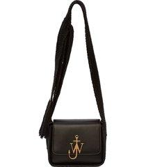 jw anderson anchor scarf crossbody bag - black