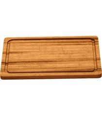 tábua para churrasco tramontina retangular em madeira muiracatiara com acabamento envernizado 30 x 21 cm 13071100