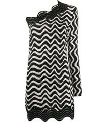 stella mccartney swirl one-shoulder dress - black