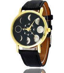 orologio da donna al quarzo lunare in pelle eclipse lunare romantico da donna, dolce regalo per lei