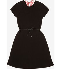 belted knit dress black 44