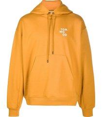 tom wood neal logo-print hoodie - orange