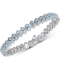 blue topaz cluster tennis bracelet (15 ct. t.w.) in sterling silver(also available in multi and garnet)
