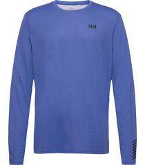 hh lifa active solen ls t-shirts long-sleeved blauw helly hansen