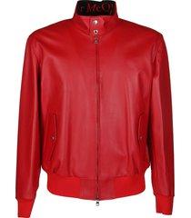 alexander mcqueen leather jacket
