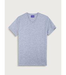 camiseta basic cuello v para hombre freedom 02129