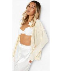 plisse blouse, beige