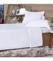 jogo de cama 300 fios casal cetim 100% algodão branco - tessi