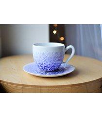 filiżanka ręcznie malowana fiolet ombre