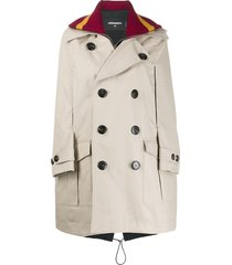 dsquared2 cape jumper coat - neutrals