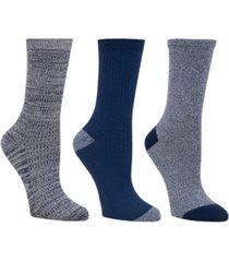 cuddl duds women's 3pk mid-weight crew cut socks, online only