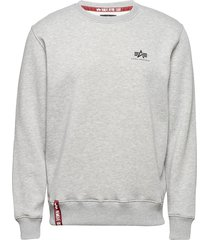basic sweater small logo sweat-shirt tröja grå alpha industries