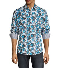 classic-fit printed cotton shirt