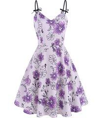 bowknot flower planet skater dress