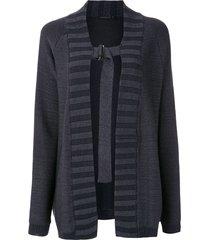 alcaçuz parma knit cardi-coat - blue