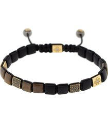 brown sapphire lock bracelet