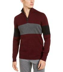 dkny men's quarter-zip sweatshirt