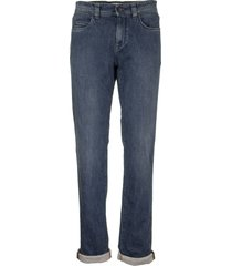 loro piana 5 tasche slim cotton trousers denim