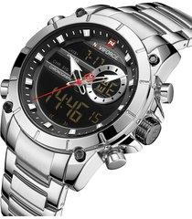 reloj naviforce 9163 - plata
