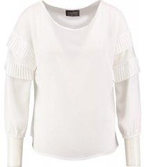 amélie & amélie off white polyester blouse 3/4 mouw
