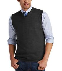 joseph abboud charcoal v-neck modern fit sweater vest
