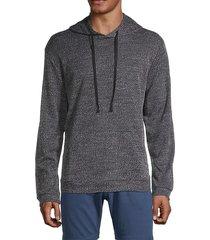 michael textured hoodie