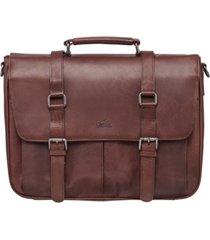 mancini buffalo collection single compartment laptop briefcase
