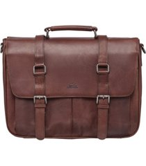 mancini buffalo collection single compartment laptop briefcase