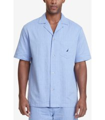 nautica men's herringbone comfort cotton pajama shirt