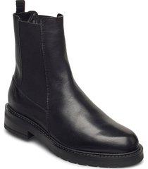 jemma long wool shoes chelsea boots svart pavement