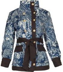 kimono jas met gouden marineknopen gulch  blauw
